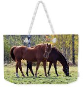 Horses Fall Grazing Weekender Tote Bag