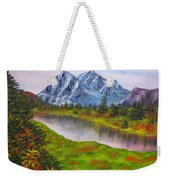 Fall In Mountains Landscape Oil Painting Weekender Tote Bag