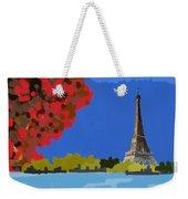 Fall In Paris Weekender Tote Bag