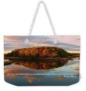 Fall In Wellfleet Quote Weekender Tote Bag