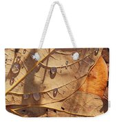 Fall Leaves And Dew 5 2017 Weekender Tote Bag