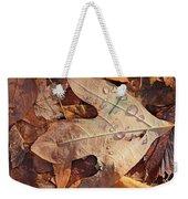Fall Leaves And Dew 8 2017 Weekender Tote Bag