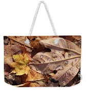 Fall Leaves And Dew 9 2017 Weekender Tote Bag