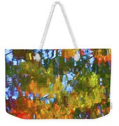 Fall Leaves On River 12 Weekender Tote Bag