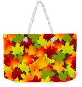 Fall Leaves Quilt Weekender Tote Bag