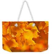 Fall Maple Leaves Weekender Tote Bag by Elena Elisseeva