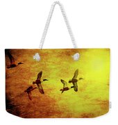 Fall Migration . Northern Shovelers . Texture . 40d5393 Weekender Tote Bag
