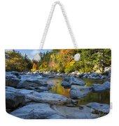 Fall Morning At Swift River Weekender Tote Bag