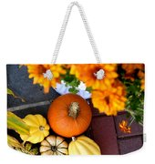 Fall Mums And Pumpkins Weekender Tote Bag