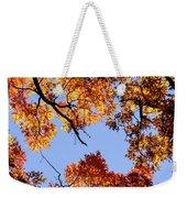 Fall Oak Leaves Up Above Weekender Tote Bag