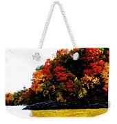 Fall On Grand Lake Weekender Tote Bag