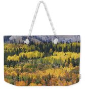 Fall On The Greys River Weekender Tote Bag