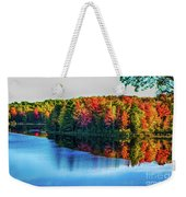 Fall On The Lake In Wisconsin Weekender Tote Bag