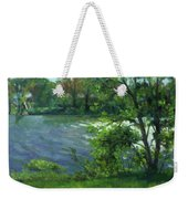 Fall On The Maumee River Weekender Tote Bag