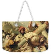 Fall On The Way To Calvary Weekender Tote Bag by G Tiepolo