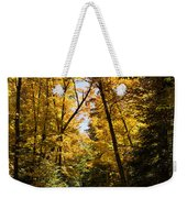 Fall Path In Golden Yellow Weekender Tote Bag