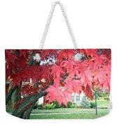 Fall Reds Weekender Tote Bag