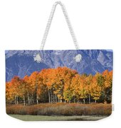 Fall Reflection At Oxbow Bend Weekender Tote Bag