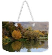 Fall Reflection Below The Hills In Prosser Weekender Tote Bag