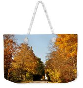 Fall Road Weekender Tote Bag