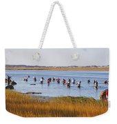 Fall Shellfishing Weekender Tote Bag
