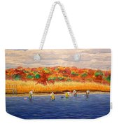 Fall Shellfishing In New England Weekender Tote Bag