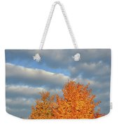 Fall Sunrise On Sugar Maple Along Route 31 Weekender Tote Bag