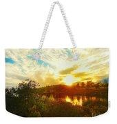 Fall Sunset At Lake Murray San Diego Weekender Tote Bag