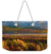 Fall Weekender Tote Bag by Talya Johnson