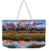 Fall Teton Tip Reflections Weekender Tote Bag