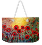 Fall Time Poppies  Weekender Tote Bag