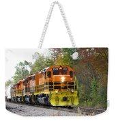 Fall Train In Color Weekender Tote Bag by Rick Morgan