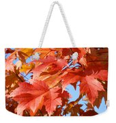 Fall Tree Leaves Art Prints Blue Sky Autumn Baslee Troutman Weekender Tote Bag
