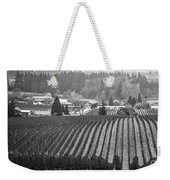 Vineyard In Black And White Weekender Tote Bag