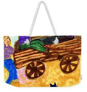 Fall Wagon Ride Weekender Tote Bag