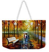 Fall  White Umbrella Weekender Tote Bag