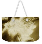 Fallen Angel Vertical Gold Weekender Tote Bag