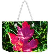 Fallen Maple Leaf Weekender Tote Bag