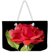 Fallen Red Rose Cutout Weekender Tote Bag