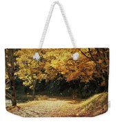 Bass Lake Falling Leaves Weekender Tote Bag