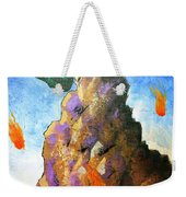 Falling Off The Mountain Weekender Tote Bag
