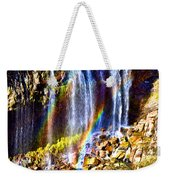 Falling Rainbows Weekender Tote Bag