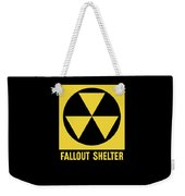 Fallout Shelter Sign Weekender Tote Bag