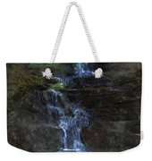 Falls At 6 Mile Creek Ithaca N.y. Weekender Tote Bag