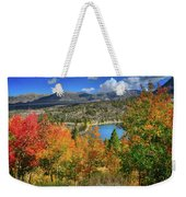 Fall's Finery At Rock Creek Lake Weekender Tote Bag