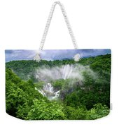 Falls Through The Fog - Plitvice Lakes National Park Croatia Weekender Tote Bag