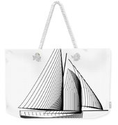 Falmouth Oyster Boat Weekender Tote Bag