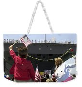 Family And Friends Wait To Welcome Home Weekender Tote Bag by Stocktrek Images
