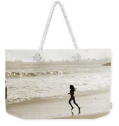 Family At Play On Beach Weekender Tote Bag