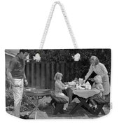 Family Bbq, C.1960s Weekender Tote Bag